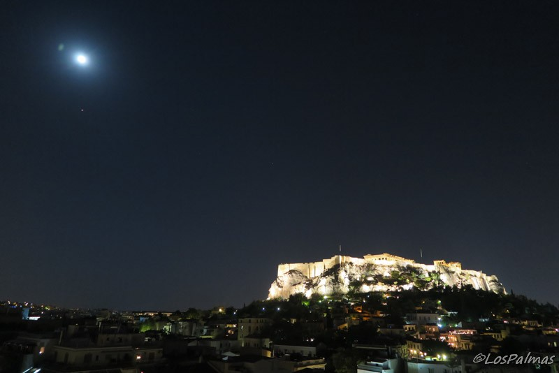 Acropolis by night Atenas - Athens - Atene Central Hotel